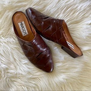 Vintage Burgundy Brown Brazilian Mules size 8